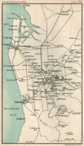 Environs of Adelaide. South Australia. BARTHOLOMEW 1904 old antique map chart