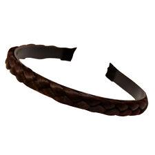 Women Girls Braided Synthetic Hair Plaited Fishtail Headband Hairband Accessory