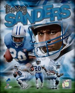 Barry Sanders Detroit Lions NFL Licensed Unsigned Glossy 8x10 Photo A