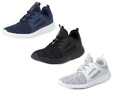 Crosshatch Mens Textile Canvas Trainers Fashion Plimsolls Shoes Navy White Black