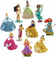 Disney Princess Deluxe Figurine Set Happily Ever After Playset 10 Loose Figures