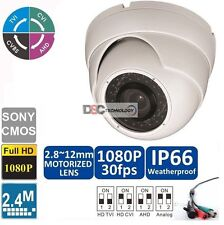 HD TVI Camera 1080P 2.4MP 35m IR distance indoor outdoor with Motorized Lens