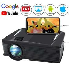 2019 WIFI 4K 3D Full HD 1080P 8000 ANSI LED Projector Home Theater AV/2USB/HDMI