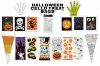 Halloween Party Trick or Treat Party Gift Favour Cello, Treat, Hand & Cone Bags