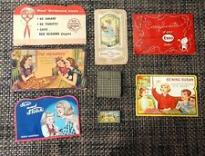 Sewing Needle Books Lot (7) Pieces Vintage Columbian Expo 1892, Esso +
