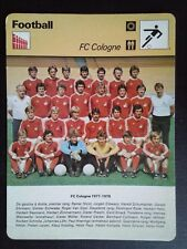 FICHE EDITIONS RENCONTRE S.A LAUSANNE FOOTBALL 1978 FC COLOGNE