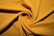 Mustard #39 Bullet Double Knit Stretch Polyester Lycra Spandex Fabric BTY