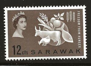 Sarawak Scott #212, Single 1963 Complete Set FVF MH