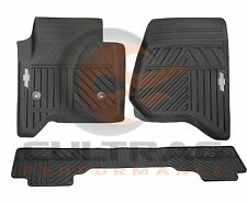 2014-2018 Silverado Genuine GM Front & Rear Premium All Weather Floor Mats Black