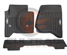 2014-2017 Silverado Genuine GM Front & Rear Premium All Weather Floor Mats Black