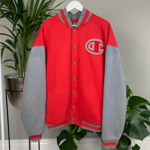 Vintage Champion Varsity Jacket Spell out on the Back
