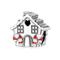 New 925 Sterling Silver Sweet House Beads Christmas Tree Charm Christmas Pandora
