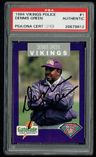 Dennis Green signed autograph auto 1994 Vikings Police Trading Card PSA Slabbed