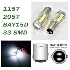White Parking Light 1157 2357 3496 7528 BAY15D 33 SMD LED Bulb A1 AX