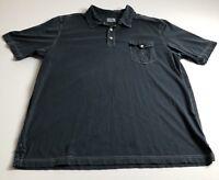 Tommy Bahama Jeans Men's XXL 2XL Gray Polo Collar Shirt Short Sleeves Casual