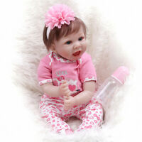 "22"" Reborn Baby Doll Lifelike Real Touch Soft Body Smile Face Doll  for Girl"