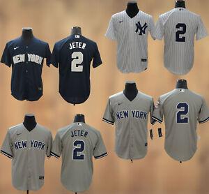 New York Yankees #2 Derek Jeter Cool Base Men's Stitched Jersey Free Shipping