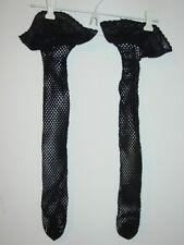 21775aa1729 Women s Black fishnet thigh highs hi s lace tops sissy dress ...