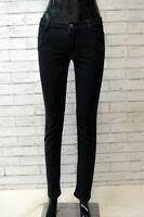 Pantalone Nero Vita Alta Donna SIVIGLIA Taglia 26 Chino Jeans Pants Woman Slim