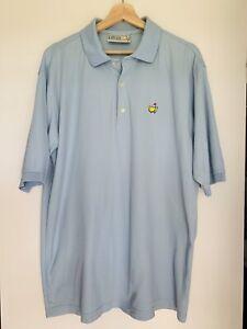 MASTERS Augusta National Golf Shop PGA Men's Blue Pique Cotton Golf Polo Shirt L