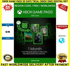 Xbox Game Pass 1 Month 30 Days Trial Subscription 🔑 for ✅ Xbox One ✅ FREE P&P