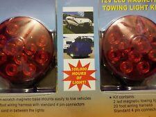 LED Portable Trailer Mounting Light Kit w/ Magnetic Base Tow Truck Trailer NEW G