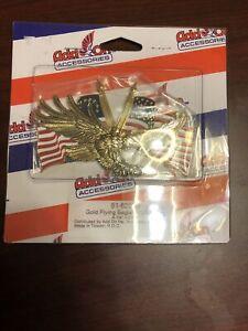 """Add On Accessories 91-6207G """"Flying Eagle"""" Gold Emblem w USA Flag"""