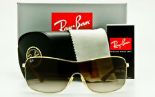 NEW RAY-BAN RB3466 001/13 METAL SHIELD Gold Frame Brown Gradient Lens AUTHENTIC
