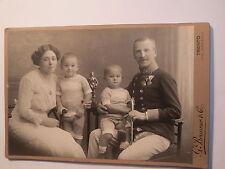 Trentino-Trento-soldato in uniforme con Orden & signora & 2 Bambini-Famiglia/KAB