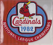 1982 ST. LOUIS CARDINALS NL CHAMPS OFFICIAL MLB BASEBALL PATCH WILLABEE WARD