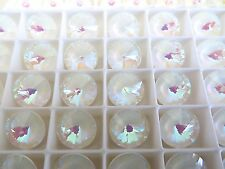 2 Ultra White AB Swarovski Crystal Rivoli Stone 1122 12mm