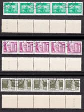 DDR Rollenmarken 1868y R 1869 w R (weisses Papier), 1968 R gestempelt #h842
