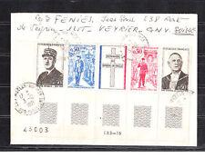 ec71/ Enveloppe   bande général De Gaulle  Moélan sur mer      1971