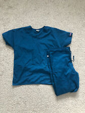 Cherokee Scrubs Core Stretch Size Small Color Blue Top And Bottom Set