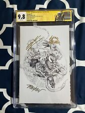 VENOM 1 CGC 9.8 SS Signed 3X KRS Unknown Comics Mayhew Variant Sketch Cover D