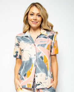 Hallie Abstract Print Pyjama Top