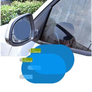 2x Waterproof Film For Car Rearview Mirror Rain-Proof Shield Anti-Fog Sticker