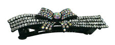 Bella Ribbon Hairbow Barrette Sparkly Crystals Sale $6.99 Free Shipping NMB