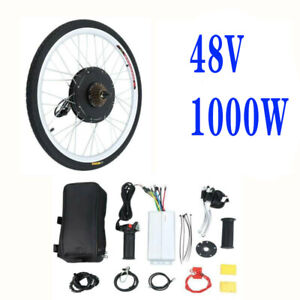 "26"" 48V 1000W Electric Bike Bicycle Motor Conversion Kit Rear Wheel Cycling"