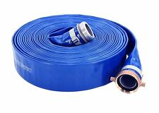 Abbott Rubber 1148-3000 PVC Discharge Hose Assembly 3 Inch ID x 50 Feet, Blue