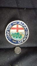 ALFA ROMEO-MILANO patch badge. sew on
