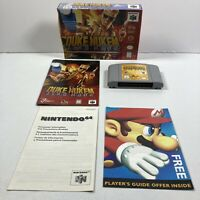 Duke Nukem: Zero Hour (Nintendo 64, 1997) - TESTED COMPLETE IN BOX Authentic