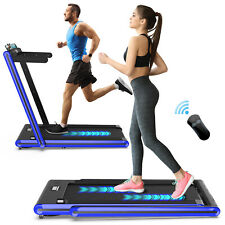 2 in 1 Treadmill Folding, 2.3HP Under Desk Electric Treadmill, Installation-Free