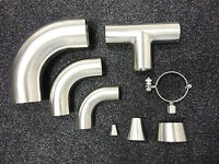 STAINLESS STEEL FITTINGS HYGIENIC/EXHAUST ELBOWS, TEES, REDUCERS TUBE CLAMPS