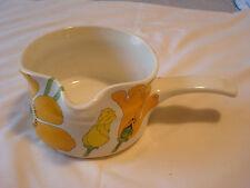 METLOX~California Pottery~Poppy Trail~WILD POPPY~Yellow & Orange GRAVY BOAT