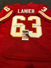 KANSAS CITY CHIEFS WILLIE LANIER AUTOGRAPHED SIGNED INSCRIBED JERSEY JSA COA