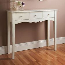 Shabby Chic Console Hall Table Side End Wooden Dressing Desk 3 Drawers New