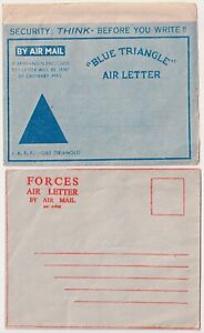 Great Britain 2 Stationery Air Mail Covers Army Forces Mint Scarce & Rare!