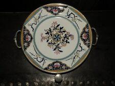 ANCIENNE ASSIETTE BAIN MARIE Porcelaine & métal argenté