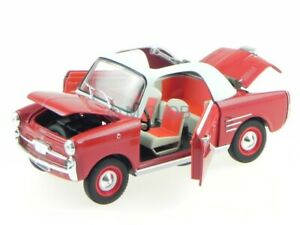 Autobianchi Bianchina Trasformabile 1958 rot Modellauto Leo 1:24